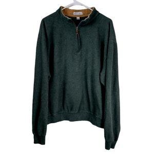 Peter millar XL Green fleece quarter zip pullover